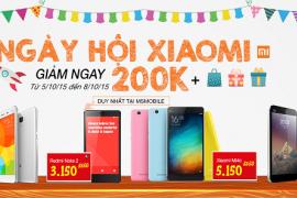 Ngày hội Xiaomi - Giảm giá đồng loạt sản phẩm Xiaomi chính hãng