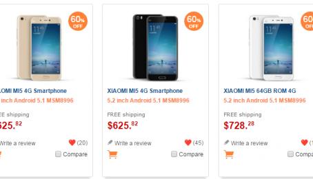 Đã có thể đặt hàng Xiaomi Mi 5 giảm giá 60% miễn phí vận chuyển