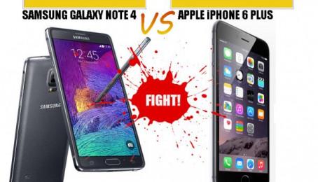 Samsung Galaxy Note 4 cũ vs iPhone 6 Plus cũ: Phabet nào dành thế thượng phong?