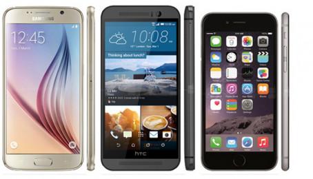 """""""Bộ ba sát thủ"""" flagship HTC One M9 cũ, iPhone 6 cũ và Galaxy S6 cũ ai sẽ là kẻ đứng đầu?"""