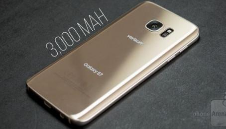 Đánh giá pin điện thoại Samsung Galaxy S7 2 Sim