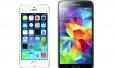 So sánh điện thoại Samsung Galaxy S5 và iPhone 5S