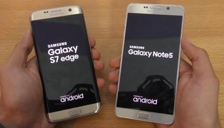 So sánh Samsung Galaxy S7 edge và Note 5