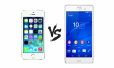 So sánh thiết kế của Sony Xperia Z3 vs iPhone 5S
