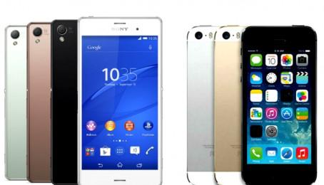 So sánh Sony Xperia Z3 và iPhone 5S: Cấu hình và tính năng