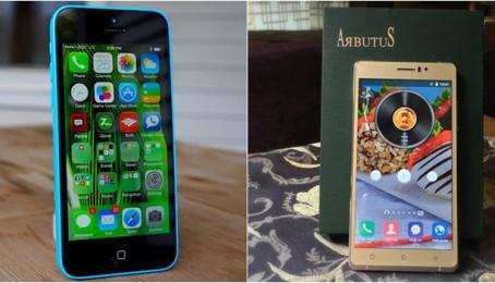 So sánh iPhone 5c Lock vs Arbutus AR6 Plus: Nhà Táo dành phần thắng