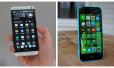 So sánh iPhone 5C Lock và HTC One M7 cũ về chất lượng màn hình hiển thị