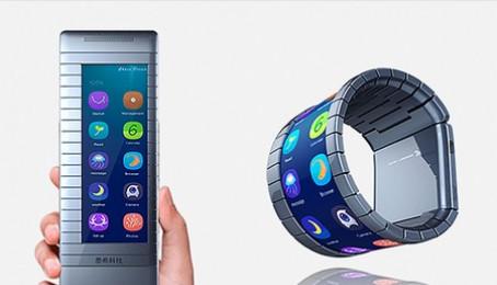Trung Quốc trình làng smartphone có thể bẻ cong thành smartwatch