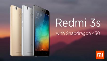 So sánh Xiaomi Redmi 3X và Xiaomi Redmi 3s
