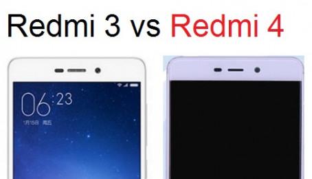 So sánh Xiaomi Redmi 4 với Xiaomi Redmi 3