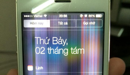 Khắc phục tình trạng màn hình iPhone bị nhiễu hoặc bị sọc