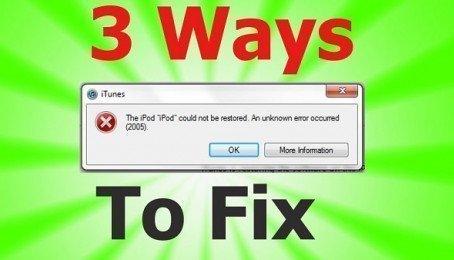 Hướng dẫn khắc phục lỗi 2005 khi Restore IPhone bằng iTunes