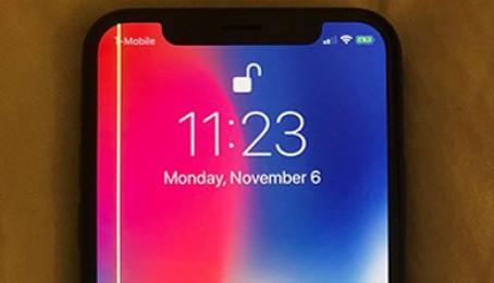 Màn hình iPhone X bị sọc