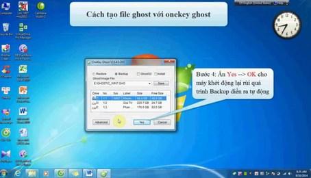 Hướng dẫn Ghost win 7 bằng phần mềm Onekey Ghost