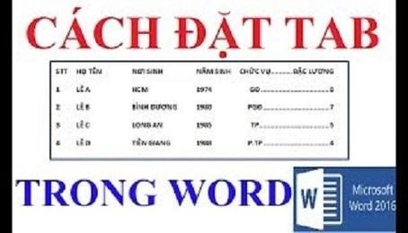 Hướng dẫn cách đặt tab trong Word 2010 đơn giản