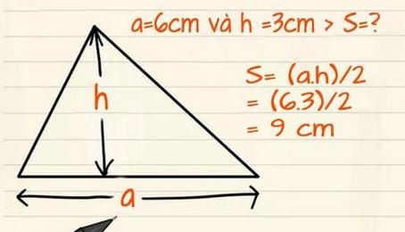 Tổng hợp những công thức tính diện tích tam giác