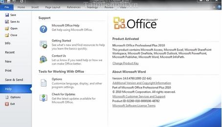 Download Office 2010 - Bộ công cụ văn phòng 2010 của Microsoft
