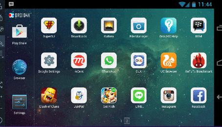 Droid4X: Phần mềm giả lập Android dành cho máy tính