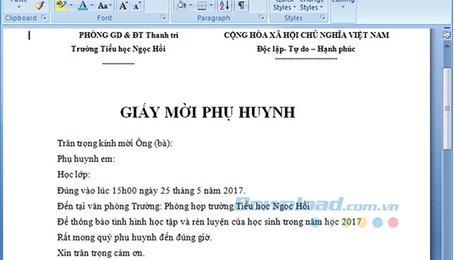 Hướng dẫn cách trộn thư trong Microsoft Word