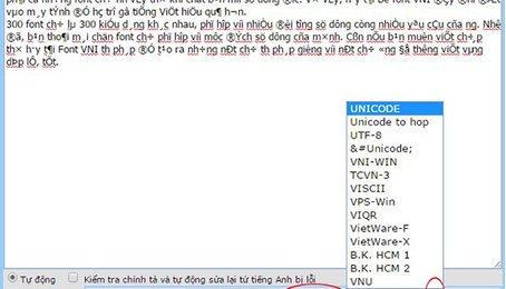 Hướng dẫn chuyển font chữ online trong soạn thảo văn bản mà