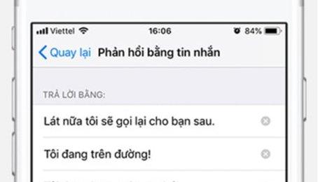 Phản hồi bằng tin nhắn trên iPhone