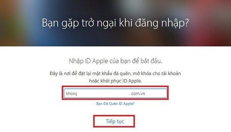 Hướng dẫn lấy lại mật khẩu iCloud/Apple ID cho iPhone/iPad