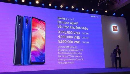 Xiaomi Redmi Note 7 ra mắt tại VN phiên bản chính hãng