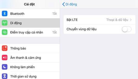 Cách bật tắt 3G/ 4G trên điện thoại iPhone, iPad