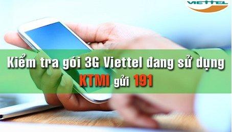 Các cách kiểm tra gói cước 3G Viettel đang sử dụng