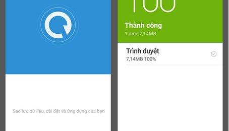 Sao lưu dữ liệu, backup dữ liệu điện thoại Xiaomi