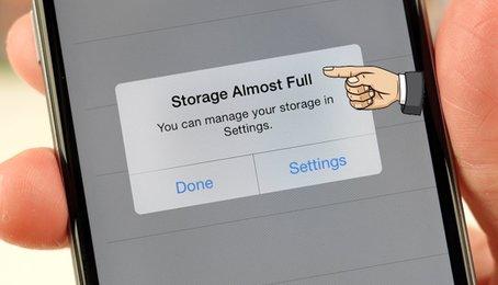 iPhone đầy bộ nhớ, tăng bộ nhớ iPhone, cách khắc phục iPhone đầy bộ nhớ