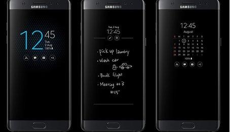 Hiện thị đồng hồ trên màn hình khóa, tính năng AOD trên điện thoại Samsung