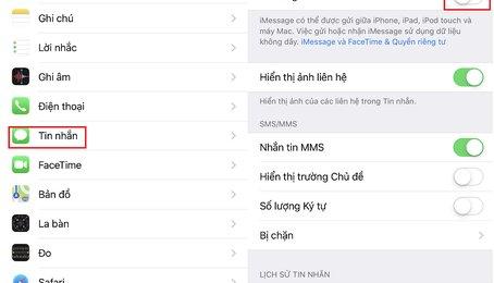 Lỗi iMessage, iMessage không gửi được tin nhắn, khắc phục lỗi iMessage trên iPhone iPad