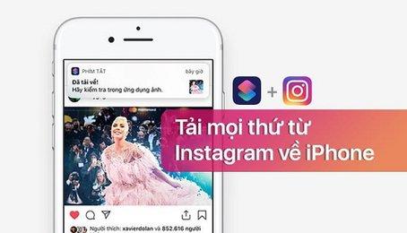 Lưu ảnh trên Instagram về điện thoại, tải ảnh từ Instagram về iPhone