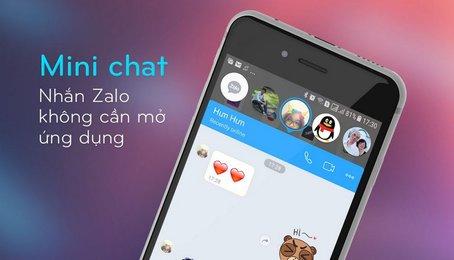 Chế độ Mini chat trên Zalo, chế độ bong bóng chat trên Zalo