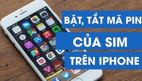Khóa sim trên iPhone iPad, đặt mã Pin cho sim điện thoại trên iPhone, iPad