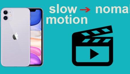 Chuyển đổi video Slow motion thành video thường trên iOS, iPhone, iPad