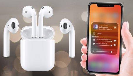 Cách chia sẻ nhạc tới nhiều thiết bị trên iPhone, kết nối hai AirPods với iPhone (iOS 13)
