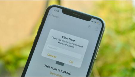 Cách đặt lại mật khẩu ứng dụng Ghi chú trên iPhon iPad, reset mật khẩu Notes trên iPhone iPad