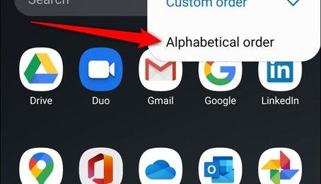 Cách sắp xếp ứng dụng theo thứ tự ABC trên điện thoại Samsung Galaxy