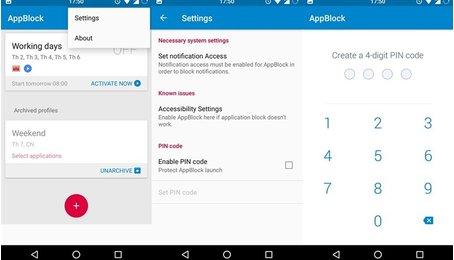 Sử dụng AppBlock đặt mật khẩu ứng dụng trên điện thoại