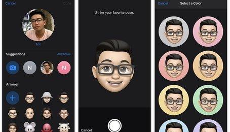 Tùy chọn ảnh danh bạ, iMessages bằng Memoji trên iPhone iPad (iOS 13)