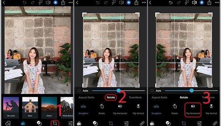 Hướng dẫn cách lật ảnh trên iPhone, iPad (iOS)