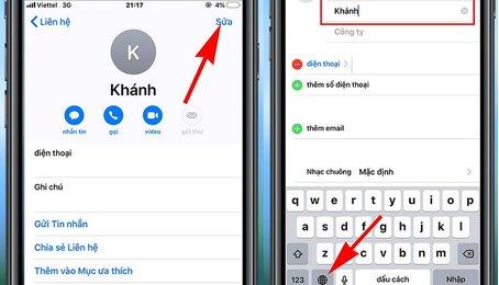 Lưu tên danh bạ kèm biểu tượng cảm xúc trên điện thoại iPhone