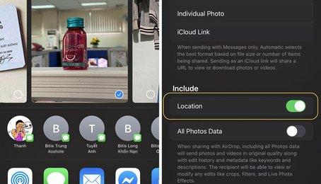 Mẹo xóa định vị ảnh chụp trên iPhone iPad, cách xóa vị trí ảnh chụp trên iPhone iPad đơn giản nhất