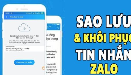 Cách sao lưu tin nhắn trên Zalo, khôi phục tin nhắn đã xóa trên Zalo nhanh nhất
