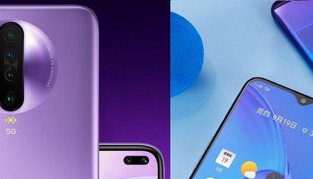 So sánh điện thoại Xiaomi Redmi K30 5G và Realme X2