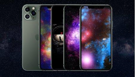 Link tải bộ hình nền iPhone chủ đề dải ngân hà chụp từ Đài Quan sát của NASA mới nhất