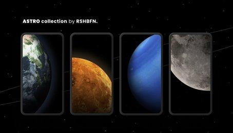 Link tải bộ hình nền Astro về không gian và hành tinh dành cho iPhone và iPad mới nhất