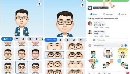 Người dùng có thể tự tạo Memoji cho bản thân trên Facebook cực kỳ đơn giản